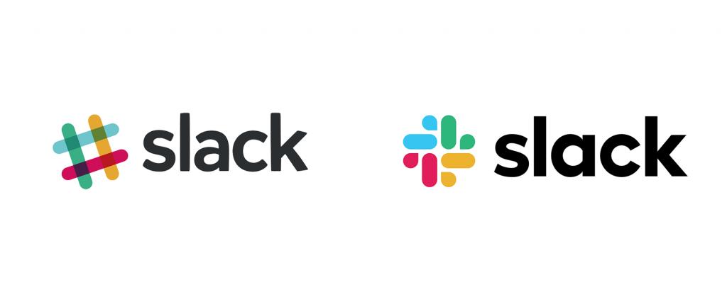 Slack's Old Logo Vs. New