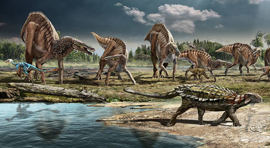 Dinosaurs Of Late Cretaceous Period