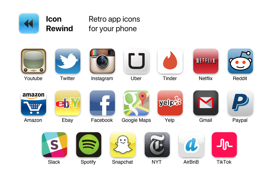 Prefer The Old Youtube Icon Here S How To Add Vintage App Icons To Your Phone Gadgetheory
