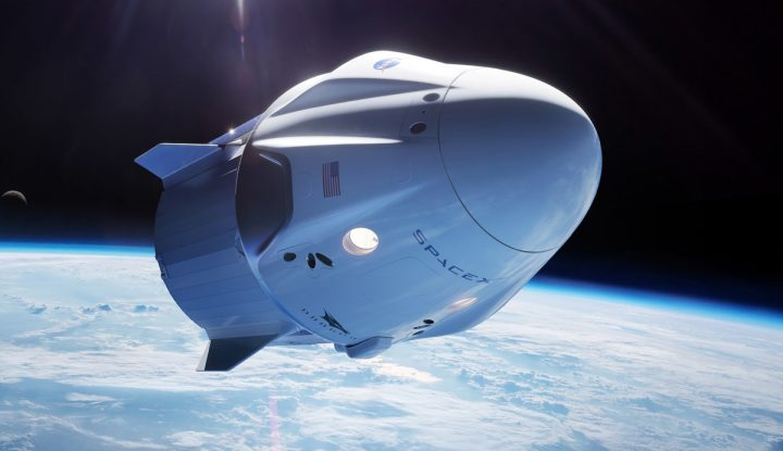 The Dragon Capsule In Space