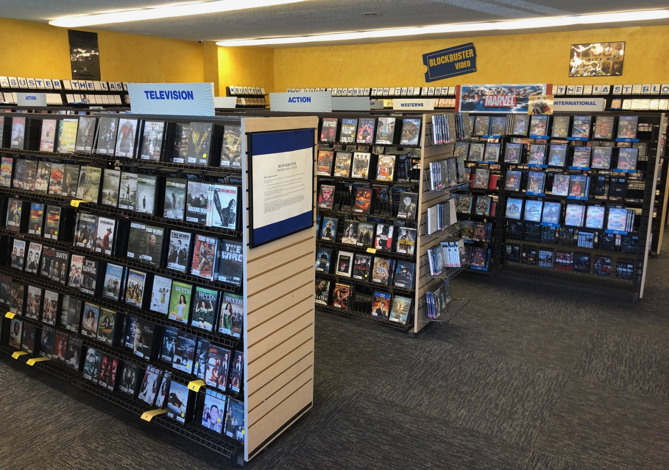 Interior Of A Blockbuster