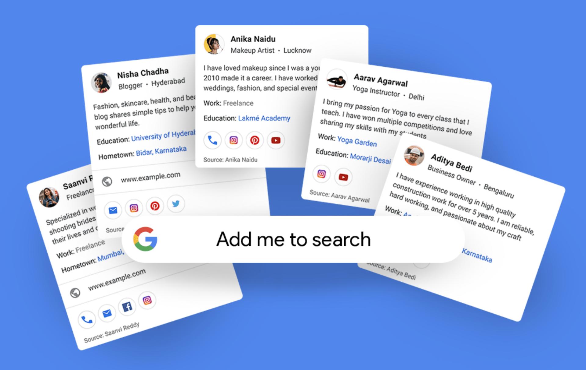 Google Profile Cards