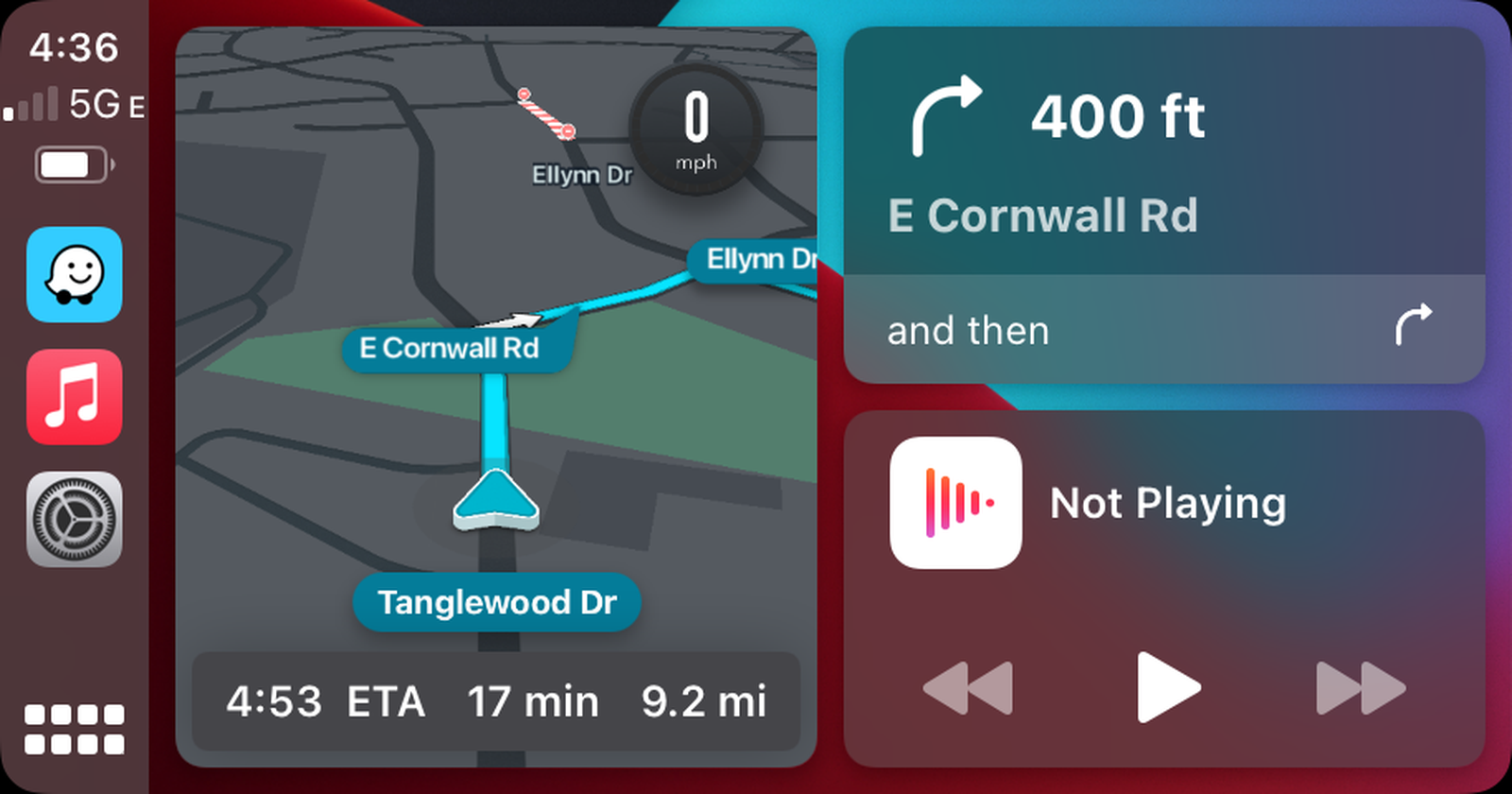 Waze On CarPlay Dashboard