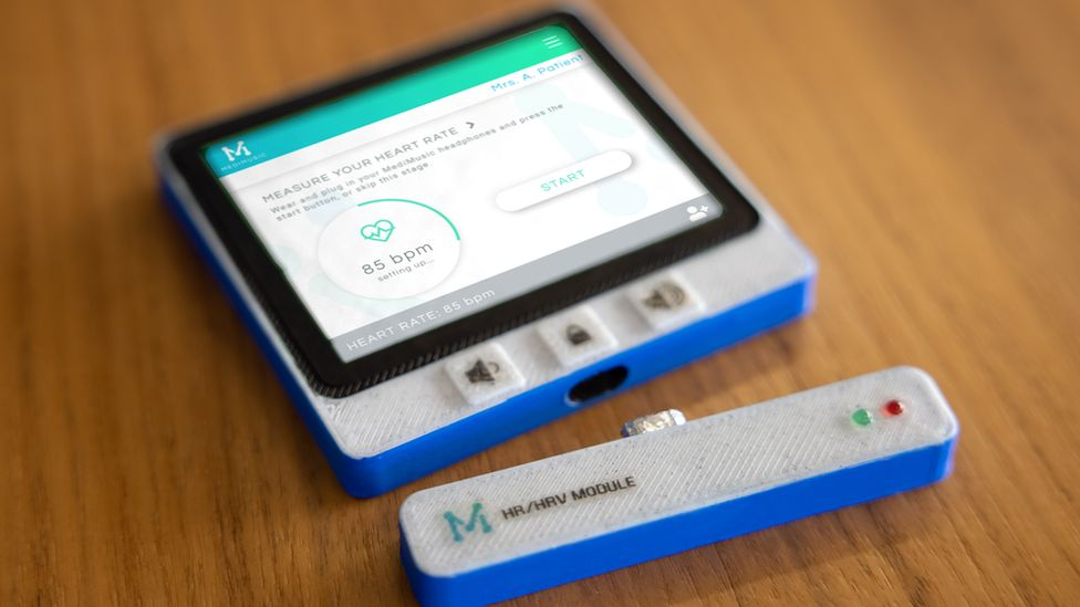 Patients Are Hooked Up To Heart Rate Monitors While Listening