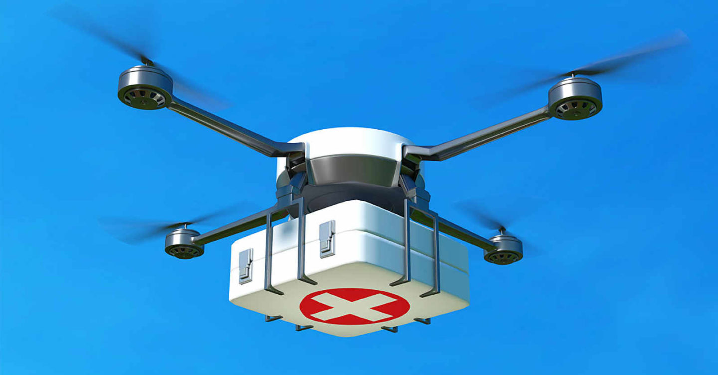 Unither Bioélectronique Made The First Drone Delivered Lung Possible